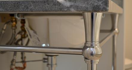 CNC Turned polished metal Hotel Vanity Unit