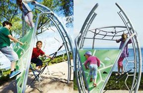 Tube Rolling Metal Playground Equipment
