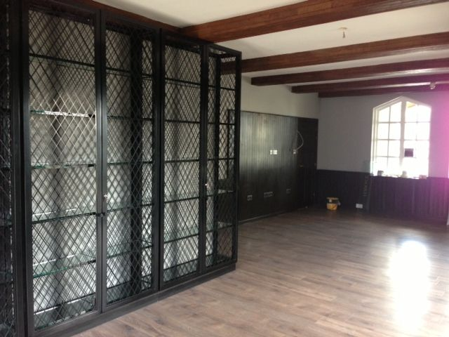 Metal Wine Cage Fabrication for Copenhagen Room