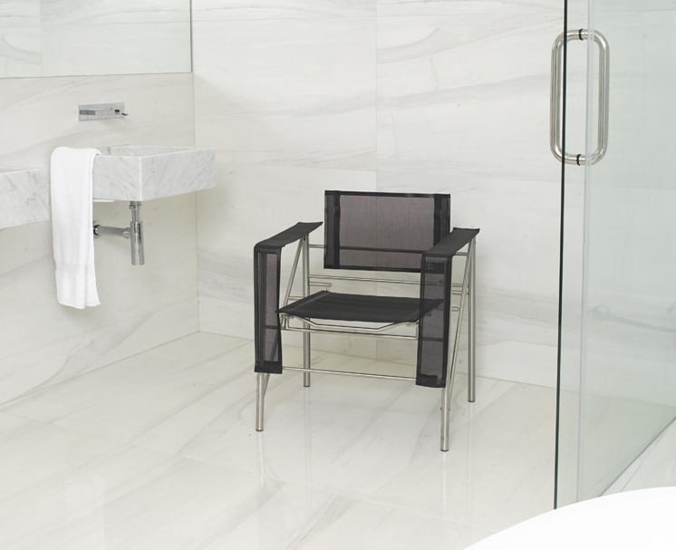 Metal Chair for the Bathroom