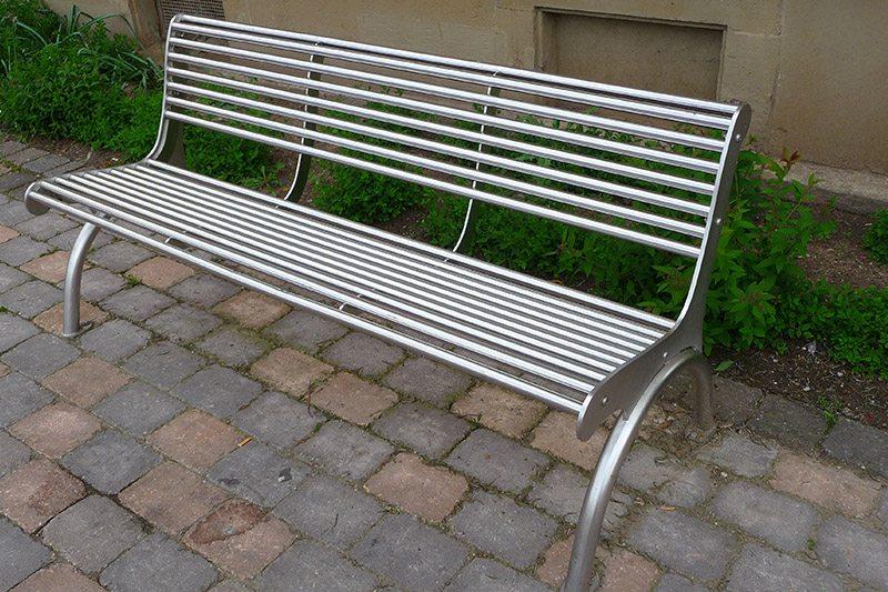 Metal Street Bench