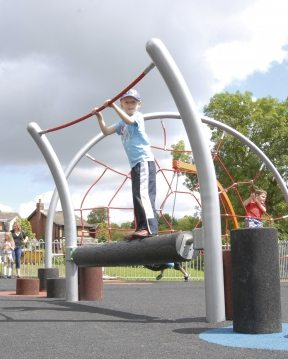 Playground Climbing Obstacle Course